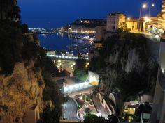 Nigt view of Port Hercule from Monaco 2006