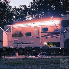 LED lighting for the RV. Attaches to the sidewall so you don't have headaches with awning lights any longer! Found at camping world.