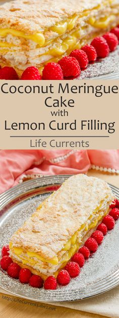 This Coconut Meringue Cake with Lemon Curd Filling looks super impressive, but is really easy to make. And, man is it delicious! All that luscious lemon curd dripping out from inside the soft coconut meringues. Wow. So good! And, this will be a big hit at any birthday, anniversary, or just about any day you feel like having cake!