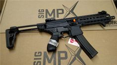 Sig MPX SBR - would love one, if not for the cost/expense of the SBR approval process. Sig Mpx Sbr, Sig Sauer, Ar Rifle, Battle Rifle, Submachine Gun, Military Guns, Cool Guns, Airsoft Guns, Guns And Ammo