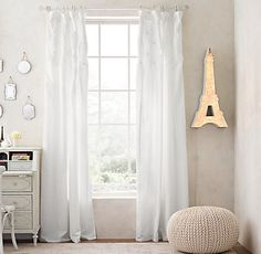 Pintucked Bow Drapery Collection | Restoration Hardware Baby & Child