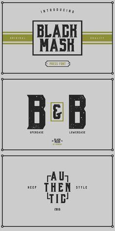 Black Mask free font