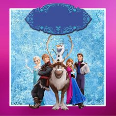 Kit de Frozen con Orilla Fucsia para Imprimir Gratis.