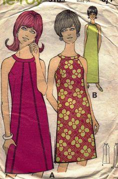 Vintage 1960's Pattern Illustration... I remember my mom's fashion magazines❤