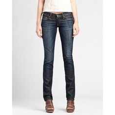Lucky Brand Zoe Straight Jeans* ($70) ❤ liked on Polyvore