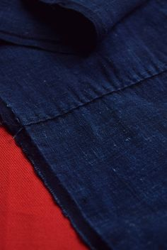 "Etsy のEAD47/50 Vintage Japanese Fabric Cotton Momen Antique Boro Patch Indigo Blue 76.7""(ショップ名:WantiquesStyle305)"