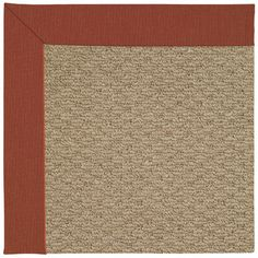 Capel Zoe Machine Tufted Red/Brown Area Rug Rug Size: Square 4'