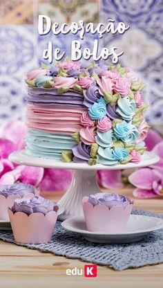 Aprenda a decorar bolos de maneira criativa clicando na imagem :)