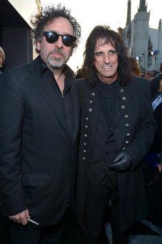 Tim Burton with Alice Cooper