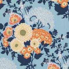 Joel Dewberry - Botanique - Bold Bouquet in Deepwater
