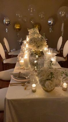 White Party Decorations, Reception Decorations, Birthday Party Decorations, Wedding Table, Wedding Dinner, Wedding Chairs, Decor Wedding, Wedding Reception, Dinner Party Table