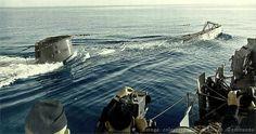 U-boat surfacing.  WOW!