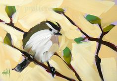 kinglet no. 16 original bird oil painting by moulton 5 x 7 inches on panel prattcreekart