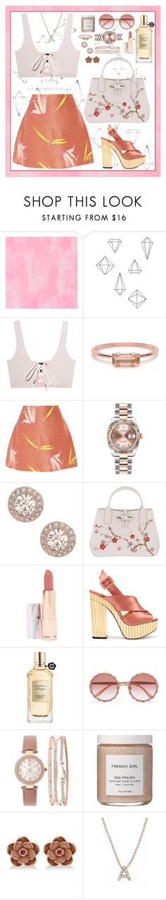 """""""pretty wild rose"""" by munascoolture ❤ liked on Polyvore featuring Designers Guild, Umbra, Puma, Bing Bang, Marni, Rolex, Givenchy, Longchamp, LAQA & Co. and Charlotte Olympia"""