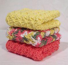 Cotton Crochet Washcloth Set  Poolside Patio by DapperCatDesigns