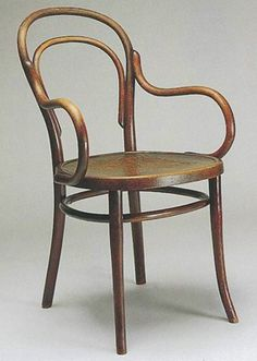 Michael Thonet ~ Model no. 14 KJ ~ Chair for the Büder Thonet ~ Bentwood and wood ~ ca.