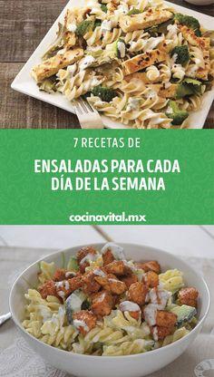 Salad Recipes, Diet Recipes, Healthy Recipes, Healthy Food, Deli Food, Mexican Food Recipes, Ethnic Recipes, Healthy Appetizers, Diet Meal Plans
