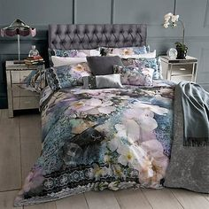 The Ted Baker Tile Floral Duvet Cover & Pillowcases shows Ted's floral flair with a sophisticated blend of flowers and industrial influences to create a unique pattern. Super King Duvet Covers, King Size Duvet Covers, Double Duvet Covers, Duvet Bedding, Comforter Sets, Linen Bedding, Bed Linens, Mens Bedding Sets, Luxury Bedding Sets