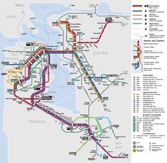 I am a big fan of taking public transit whenever I can. It's more efficient, better for the environment, and reduces stress when commuting (compared to driving alone). There are so many ways to get around the Bay Area using public transit.