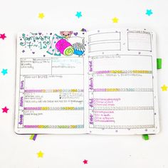 Bullet journal weekly spread ideas! Awesome layout for monitoring your time... Plus who doesn't just love a sleepover theme in a bujo?!?