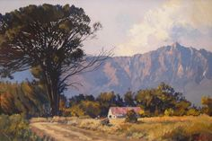 Visit the post for more. Landscape Paintings, Oil Paintings, Landscapes, African Artists, Ted, Art Gallery, Scene, Farm Houses, Drawings