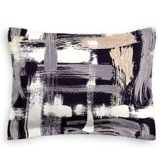 Want an organic, yet bold pillow addition to your bed? Try the Black & White Brushstrokes Sham from Loom Decor!