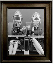 Hairdresser Art Print 8 x 10 - Retro Kitsch 1950's Women at Hair Salon Driking Wine - Beautician - Stylist on Etsy, $10.00
