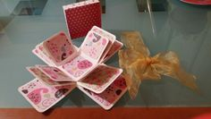Caja sorpresa scrapbook
