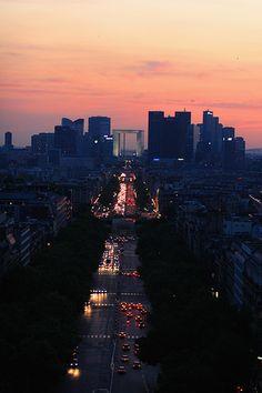 Paris Sunset - La Grande Arche de la Défense