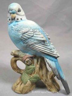 Lefton Parakeet/Budgie Figurine