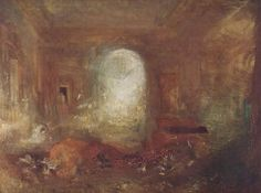 Interior of Petworth House, 1837, William Turner Size: 122x90.8 cm