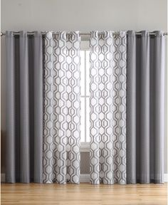 Auckland Window Panel - Grey curtains VCNY Home Auckland Sheer Curtain Panels, Window Panels, Window Coverings, Panel Curtains, Big Window Curtains, Two Tone Curtains, Sliding Door Curtains, Sliding Doors, Living Room Decor Curtains