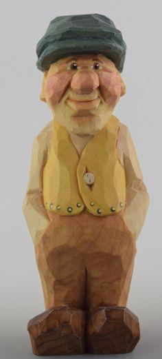 Caricatura de GNOME talladas a mano madera escandinava nórdica