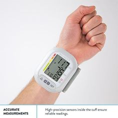 Wrist Blood Pressure Monitor Cuff Balance High Accuracy Readings LCD Two Users   #BloodPressure