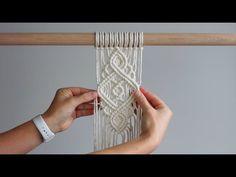 DIY Macrame Tutorial – Intermediate Pattern Using Double Half Hitch Knots! DIY Macrame Tutorial – Intermediate Pattern Using Double Half Hitch Knots!,DIY Intermediate Macrame Pattern Using Double Half Hitch Knots! Diy Macrame Wall Hanging, Macrame Art, Macrame Projects, Micro Macrame, Hanging Tapestry, Half Hitch Knot, Buffet Hutch, Macrame Design, Macrame Patterns