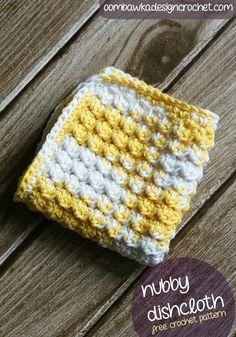 Nubby~Scrubby Dishcloth: free #crochet pattern