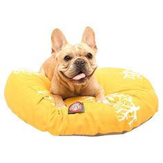 Found it at Wayfair - Coral Round Dog Bed in Yellow
