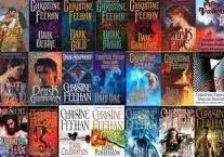 Dark series by Christine Feehan  Reading order list at http://paranormalromancereads.com