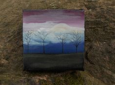 Grow Together Original Painting 4 x 4 by AGambrel on Etsy, (over 100 Originals in the shop)