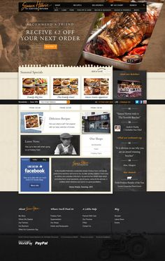 Simon Howie - The Scottish Butcher - Webdesign inspiration www.niceoneilike.com