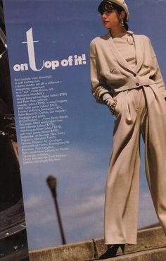 Sonia Rykiel 1988 knitwear in Vogue mag 80s Fashion, Vintage Fashion, Fashion Outfits, 80s Stuff, Princess Caroline, Sonia Rykiel, Attitude, Knitwear, Vogue