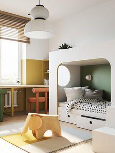White Bedroom Furniture, Bedroom Decor, Kura Ikea, Room Interior, Interior Design, Farmhouse Style Bedrooms, Kids Room Design, Home And Deco, Minimalist Interior