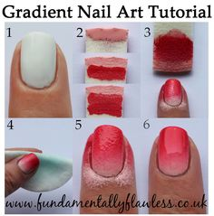 Fundamentally Flawless: Gradient Nail Art Tutorial