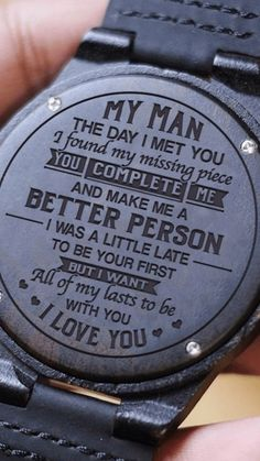 This would make a great Valentine's day gift, put this on the back of a new watch for him 😁