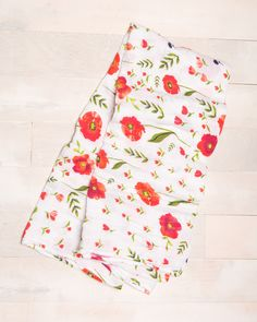 Cotton Swaddle - Summer Poppy
