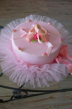 Two-tu cake? Maybe two tiered and a 2 on top instead of ballet slippers.