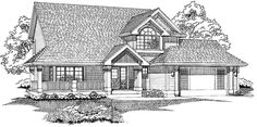 Home Plan HOMEPW23855 - 2001 Square Foot, 3 Bedroom 2 Bathroom Country Home with 2 Garage Bays | Homeplans.com