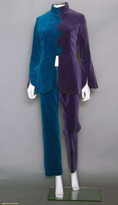 A vintage 1960's pant suit designed by The Fool Collective for the Beatles short lived London boutique the 'Apple Collective'