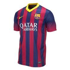 Nike FC Barcelona 2013 2014 Home Soccer Jersey Soccer Gear fd6e4a0bdb9