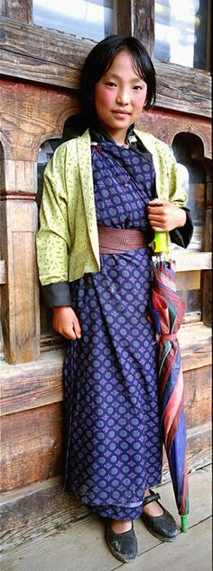 Bhutanese school girl